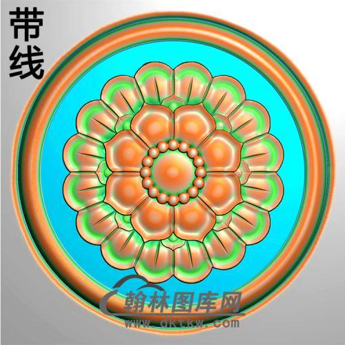 欧式圆形洋花精雕图(YXH-328)