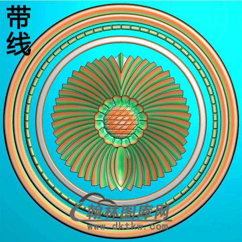 欧式圆形洋花精雕图(YXH-329)