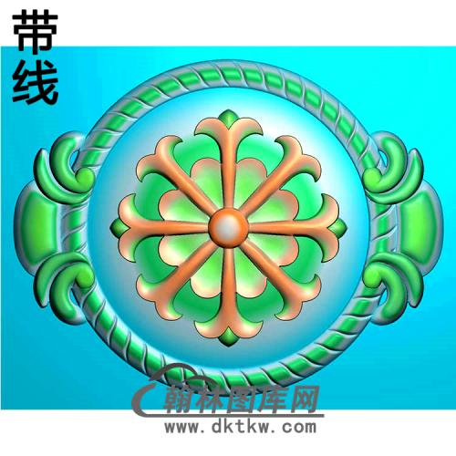 欧式圆形洋花精雕图(YXH-330)