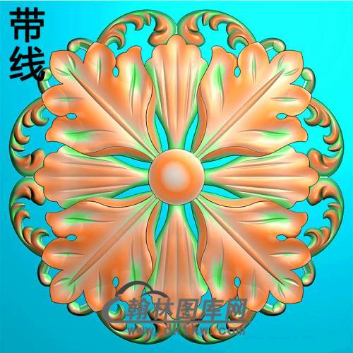 欧式圆形洋花精雕图(YXH-332)