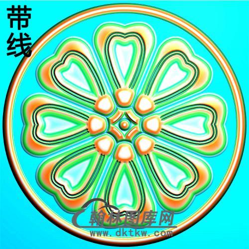 欧式圆形洋花精雕图(YXH-334)