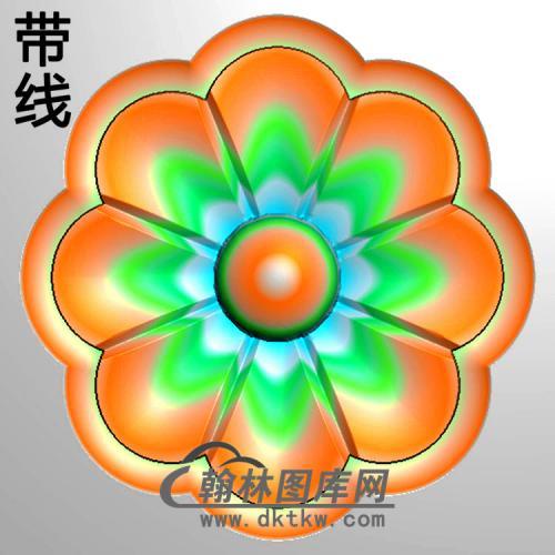 欧式圆形洋花精雕图(YXH-335)