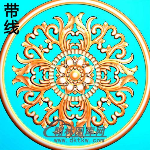 欧式圆形洋花精雕图(YXH-336)