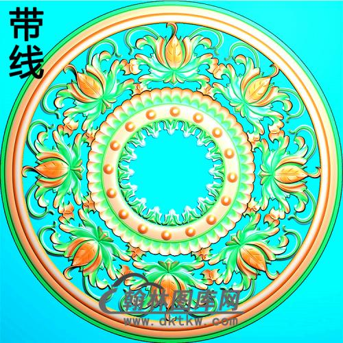 欧式圆形洋花精雕图(YXH-337)