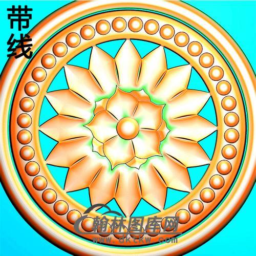 欧式圆形洋花精雕图(YXH-338)