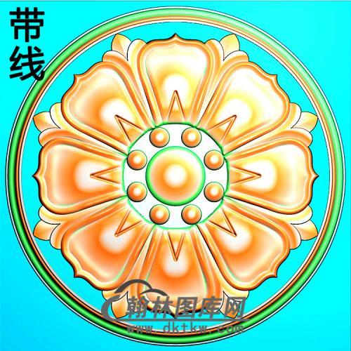 欧式圆形洋花精雕图(YXH-339)