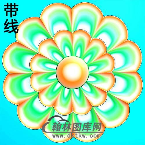 欧式圆形洋花精雕图(YXH-341)