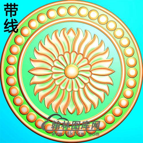 欧式圆形洋花精雕图(YXH-342)