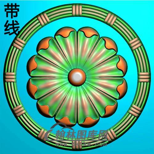 欧式圆形洋花精雕图(YXH-343)