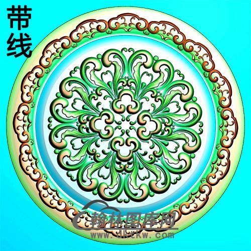 欧式圆形洋花精雕图(YXH-345)