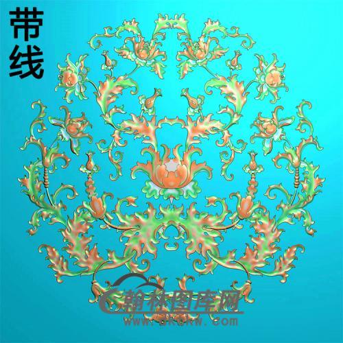 欧式圆形洋花精雕图(YXH-347)
