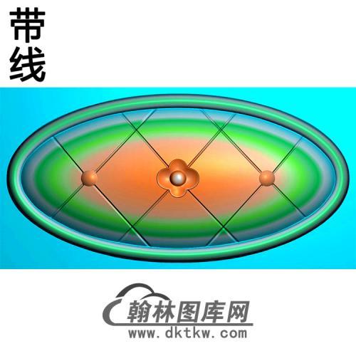 欧式椭圆形洋花精雕图(TYH-001)