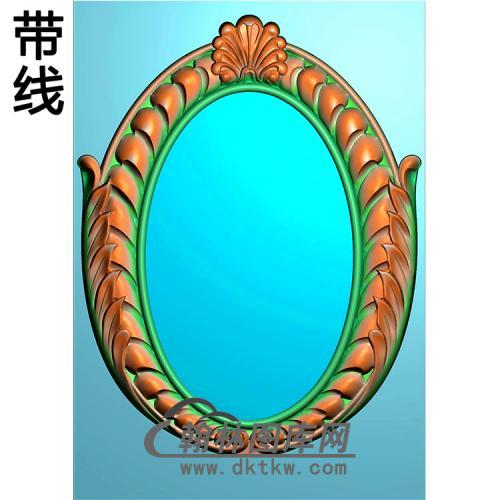 欧式椭圆形洋花精雕图(TYH-002)
