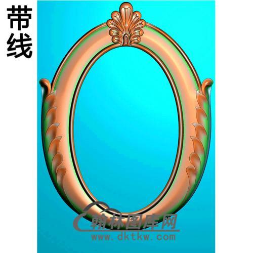 欧式椭圆形洋花精雕图(TYH-003)