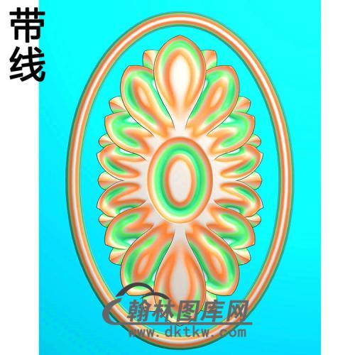 欧式椭圆形洋花精雕图(TYH-004)