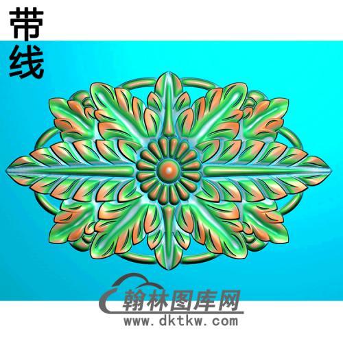 欧式椭圆形洋花精雕图(TYH-005)