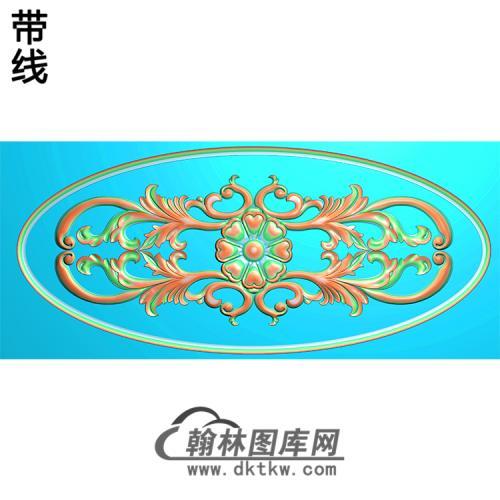欧式椭圆形洋花精雕图(TYH-008)