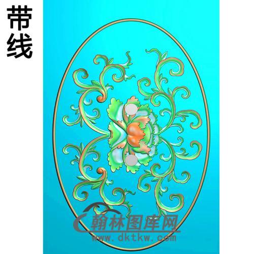 欧式椭圆形洋花精雕图(TYH-009)