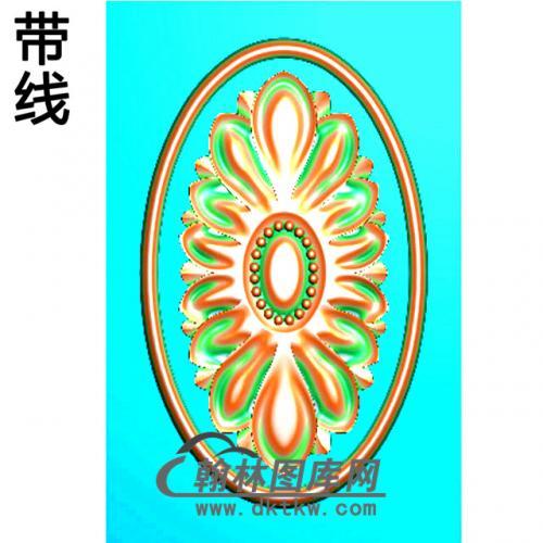 欧式椭圆形洋花精雕图(TYH-011)