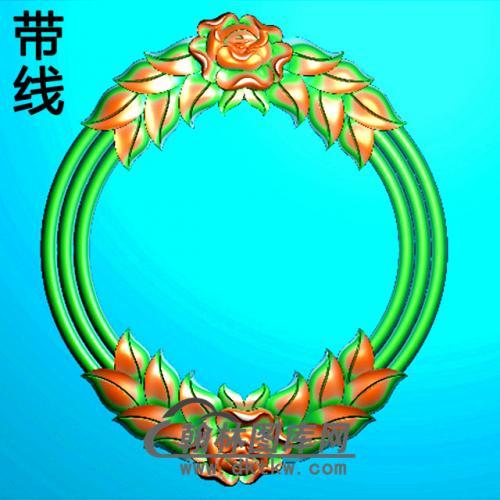 欧式椭圆形洋花精雕图(TYH-012)