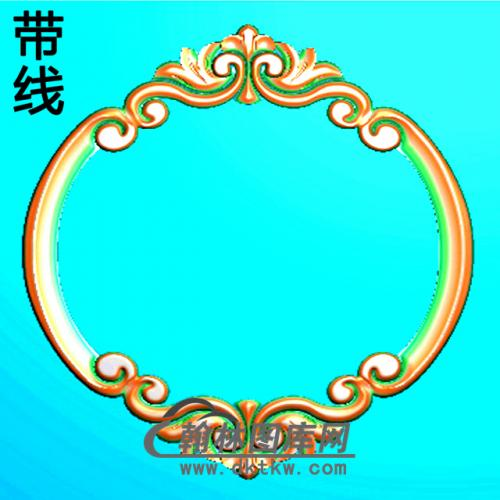 欧式椭圆形洋花精雕图(TYH-014)