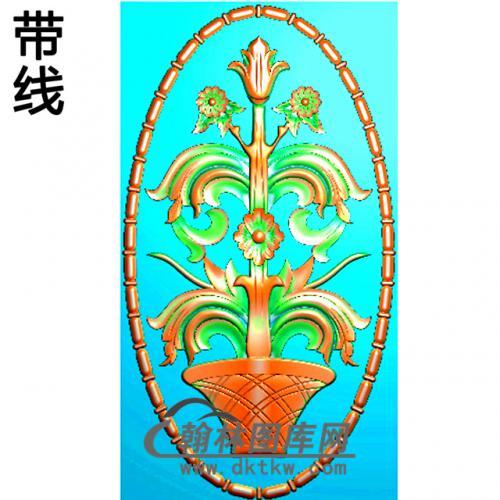 欧式椭圆形洋花精雕图(TYH-016)