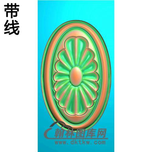 欧式椭圆形洋花精雕图(TYH-018)