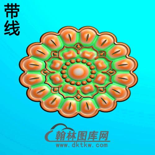 欧式椭圆形洋花精雕图(TYH-019)
