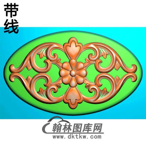 欧式椭圆形洋花精雕图(TYH-021)