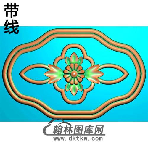 欧式椭圆形洋花精雕图(TYH-023)