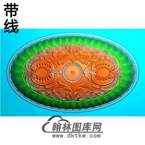 欧式椭圆形洋花精雕图(TYH-025)