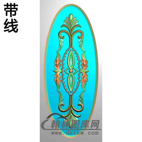 欧式椭圆形洋花精雕图(TYH-026)