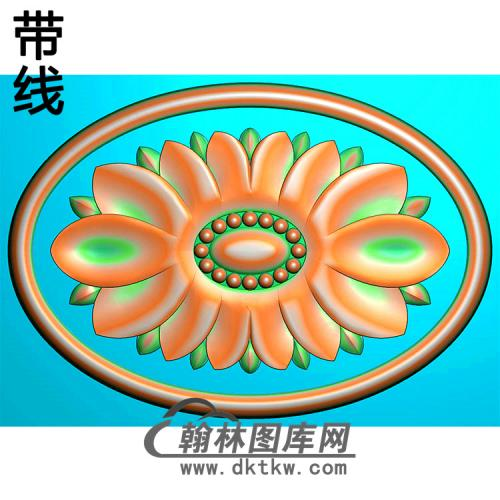 欧式椭圆形洋花精雕图(TYH-027)