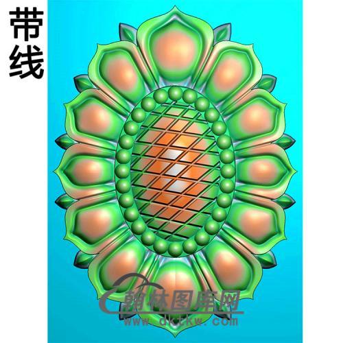 欧式椭圆形洋花精雕图(TYH-029)