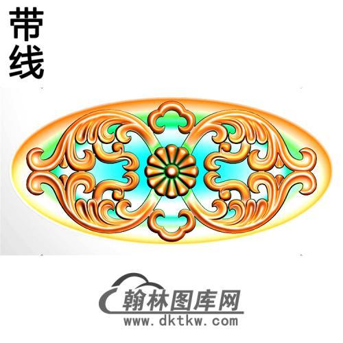 欧式椭圆形洋花精雕图(TYH-030)