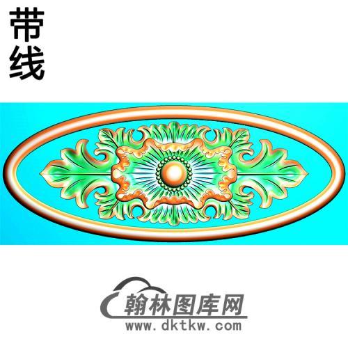 欧式椭圆形洋花精雕图(TYH-032)