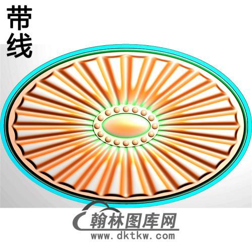 欧式椭圆形洋花精雕图(TYH-033)