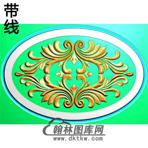 欧式椭圆形洋花精雕图(TYH-034)