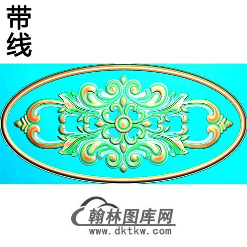 欧式椭圆形洋花精雕图(TYH-035)