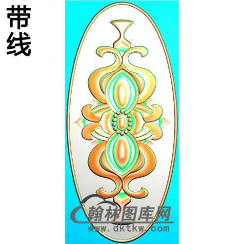 欧式椭圆形洋花精雕图(TYH-038)