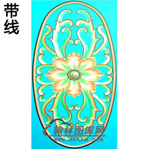 欧式椭圆形洋花精雕图(TYH-039)