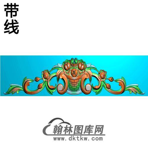 欧式帽顶洋花精雕图(MDH-097)