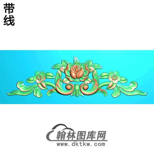 欧式帽顶洋花精雕图(MDH-127)