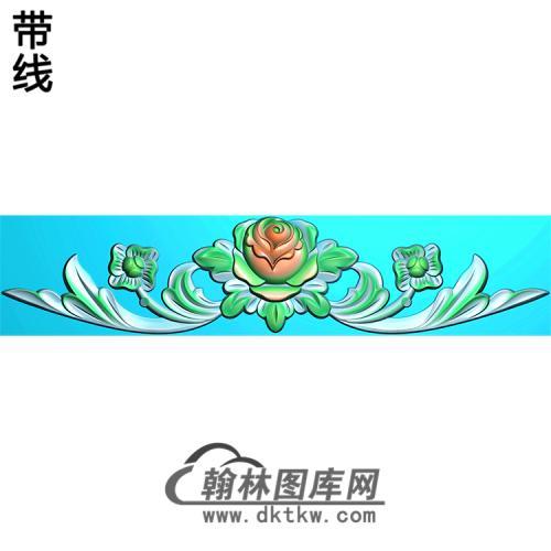 欧式帽顶洋花精雕图(MDH-145)