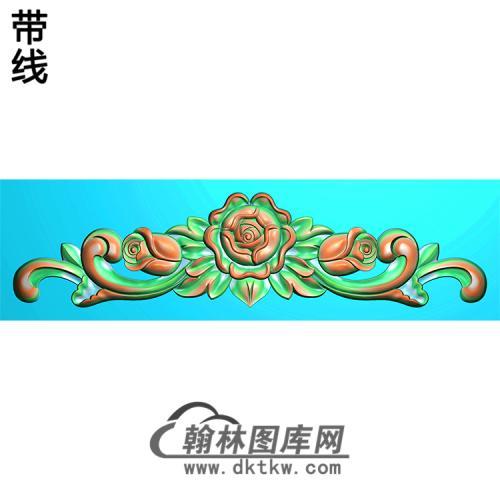 欧式帽顶洋花精雕图(MDH-148)