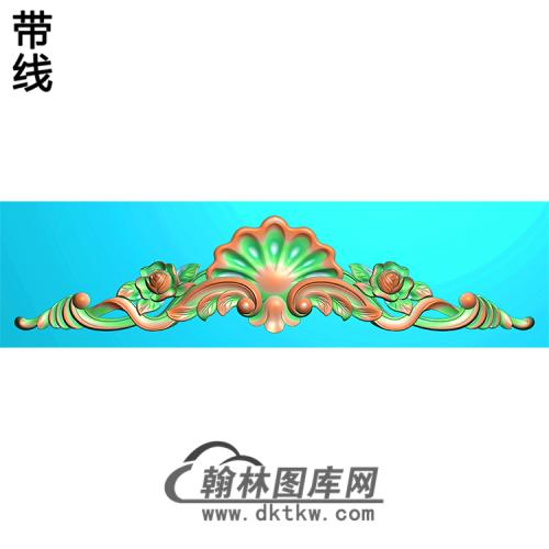 欧式帽顶洋花精雕图(MDH-153)