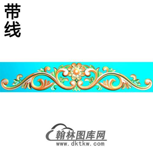 欧式帽顶洋花精雕图(MDH-235)
