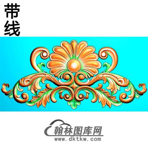 欧式帽顶洋花精雕图(MDH-237)
