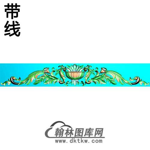 欧式帽顶洋花精雕图(MDH-247)