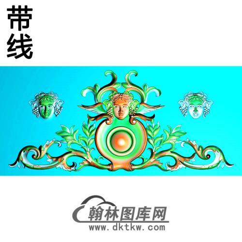 欧式帽顶洋花精雕图(MDH-248)
